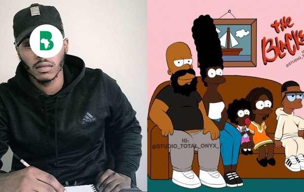 Tyron Handy l'artiste qui a réinventé 10 dessins animés avec des personnages noirs