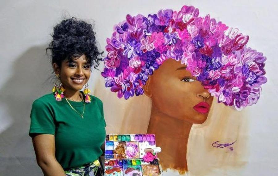 Cette adolescente peignant des femmes noires a vendu plus de travail que la plupart des artistes