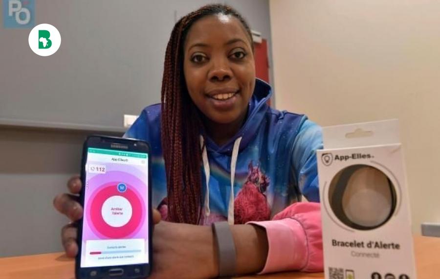 Diarata N'Diaye, 34 ans, invente un bracelet avec alarme en cas de violence féminine