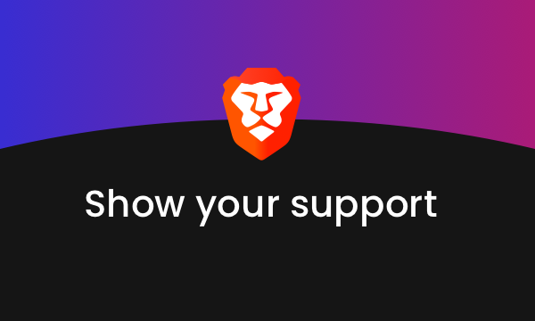 Support me with Brave