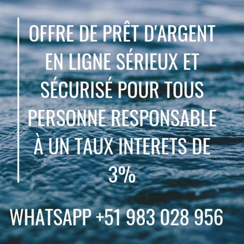 Offre de prêt d'argent en ligne Profile Picture
