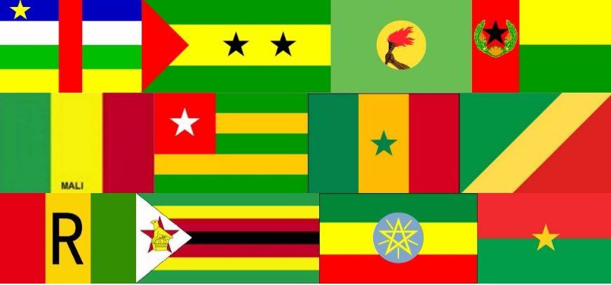 Pourquoi les drapeaux de tant de nations noires ont-ils les mêmes couleurs?
